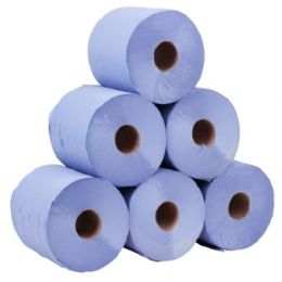 Blue Centre Feed Rolls 2 Ply